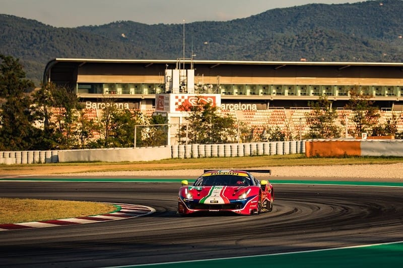 AF Corse at Sunset, Circuit de Barcelona-Catalunya