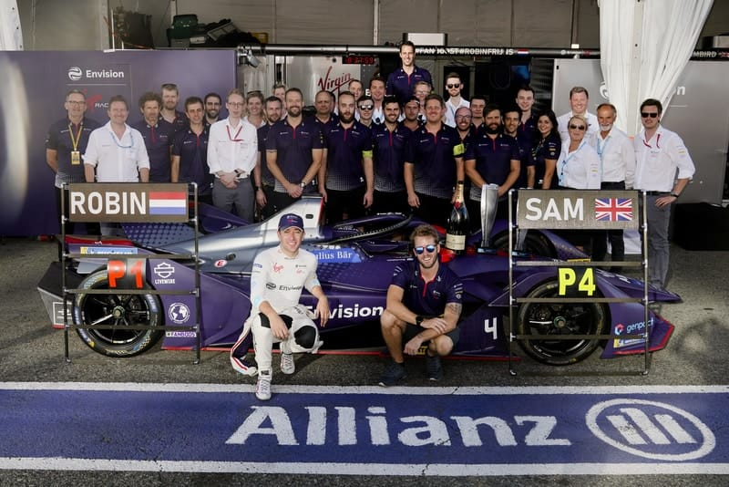 Envision Virgin Racing after winning the second race in New York City
