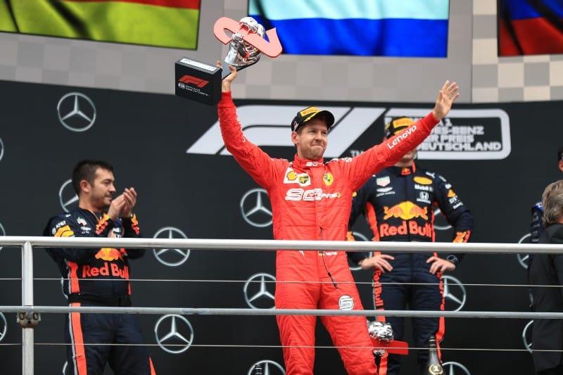 Vettel - Podium - German GP