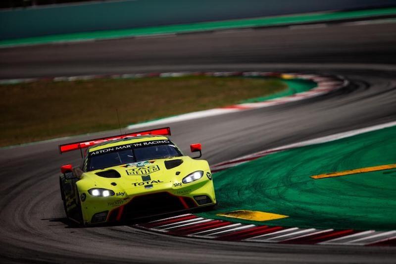 Aston Martin on track at the Circuit de Barcelona-Catalunya