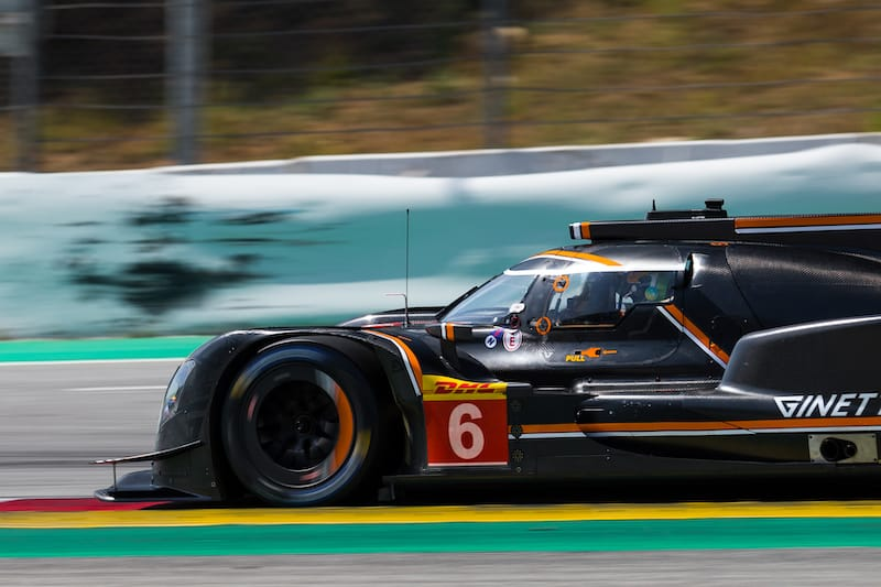 Ginetta Team LNT #6 on track at the Circuit de Barcelona-Catalunya