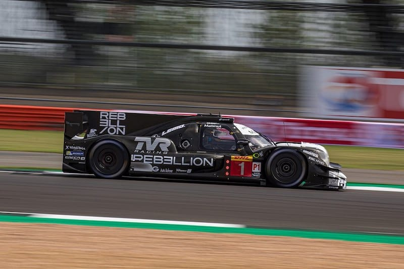 Rebellion Racing #1 setting the fastest lap, courtesy of Norman Nato, during the first free practice of the Silverstone event.