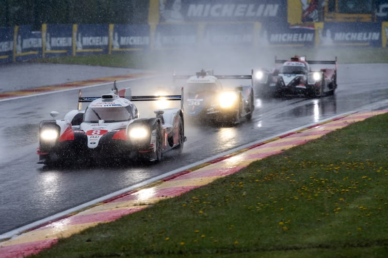 Racing in the rain at Spa-Francorchamps