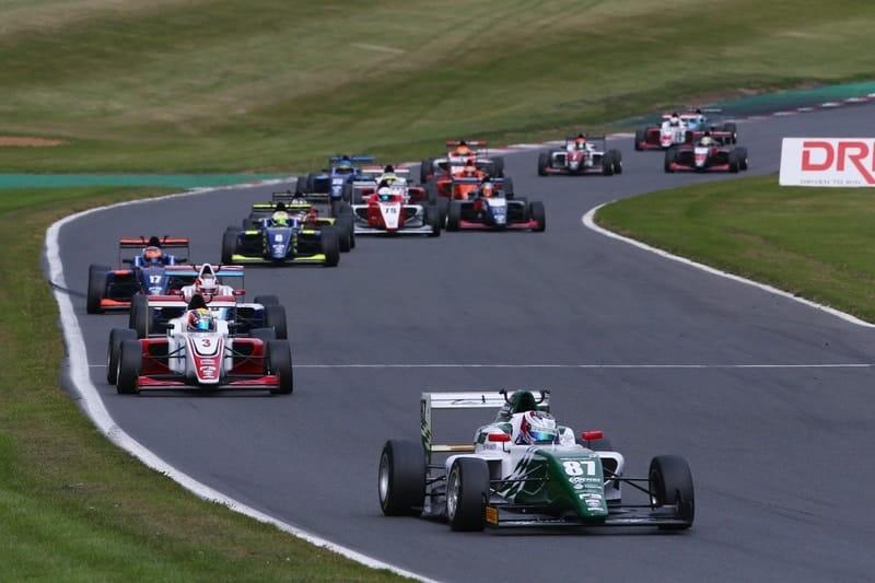 Kiern Jewiss leads race three at Brands Hatch