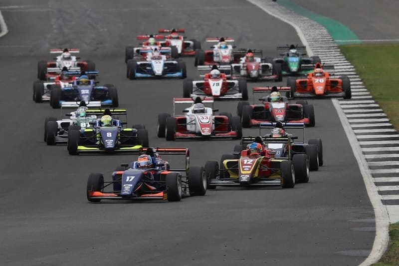 Clement Novalak leads at Silverstone