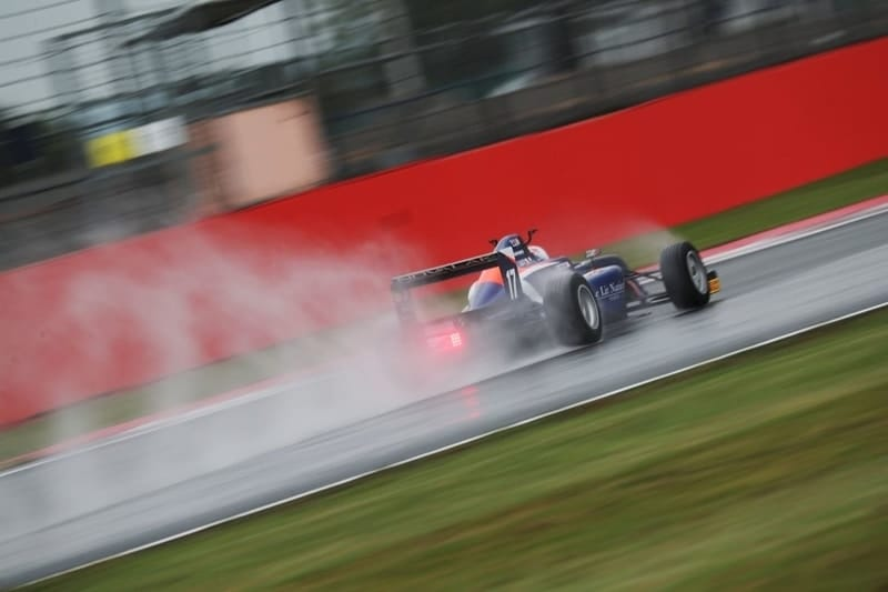 Clement Novalak on pole at Silverstone
