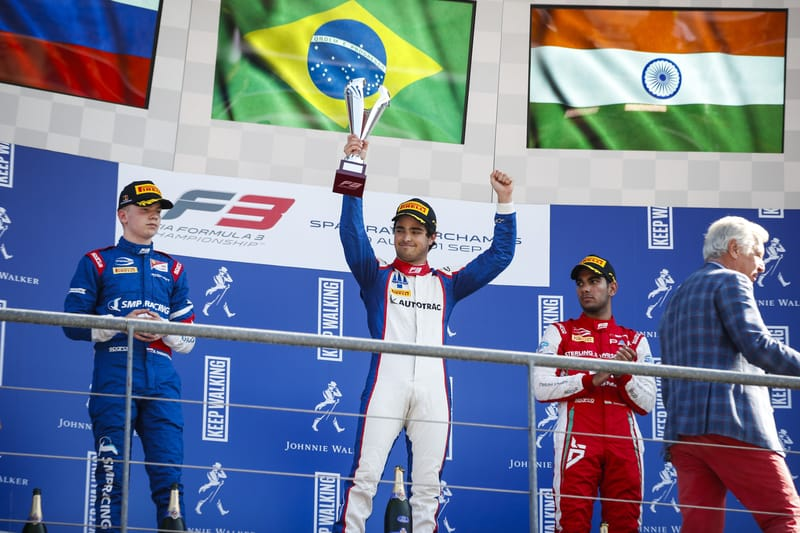 Pedro Piquet - Trident at the 2019 FIA Formula 3 Championship - Spa-Francorchamps - Race 1 - Podium