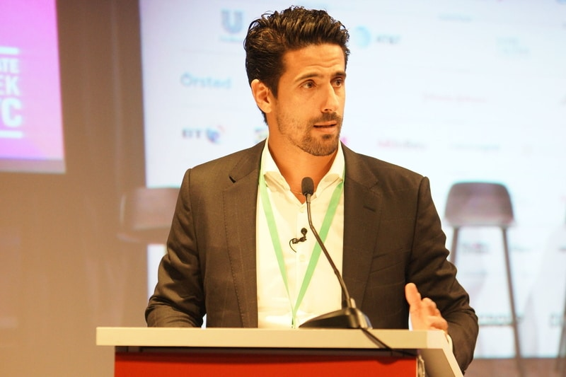 Lucas Di Grassi speaks at climate week 2019