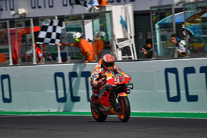 Marquez secures victory at Misano