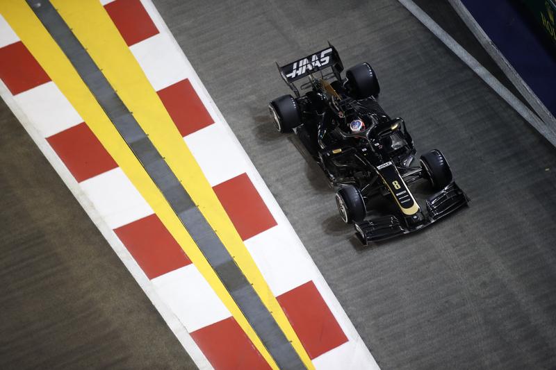 Romain Grosjean - Haas F1 Team at Singapore