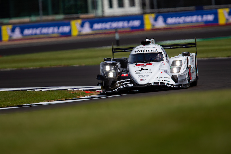 Rebellion Racing #1 on track at Silverstone, WEC 2019