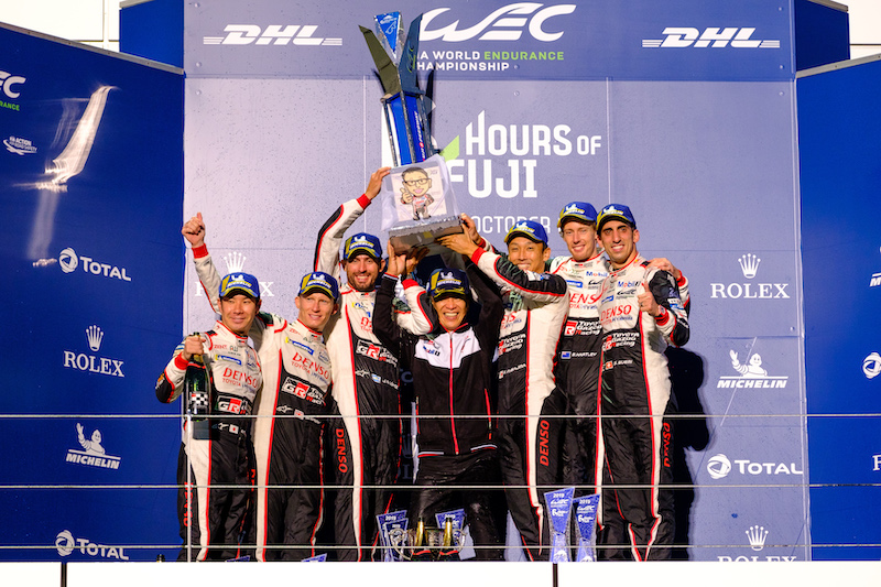 Toyota Gazoo Racing podium at Fuji Speedway