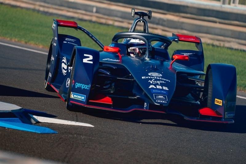 Sam Bird at Circuit Ricardo Tormo for Formula E preseason testing