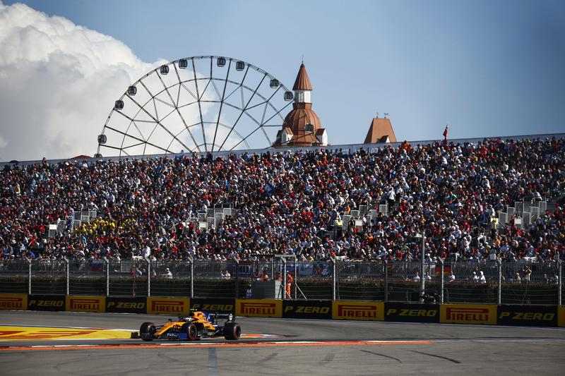 Lando Norris - McLaren F1 Team in the 2019 Formula 1 Russian Grand Prix - Sochi Autodrom - Race