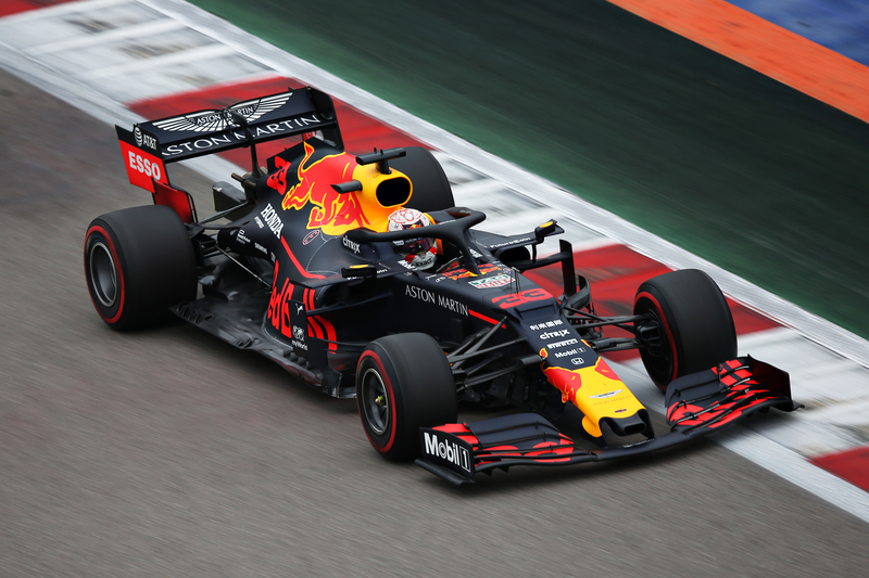 Max Verstappen - Aston Martin Red Bull Racing in the 2019 Formula 1 Russian Grand Prix - Sochi Autodrom - Race