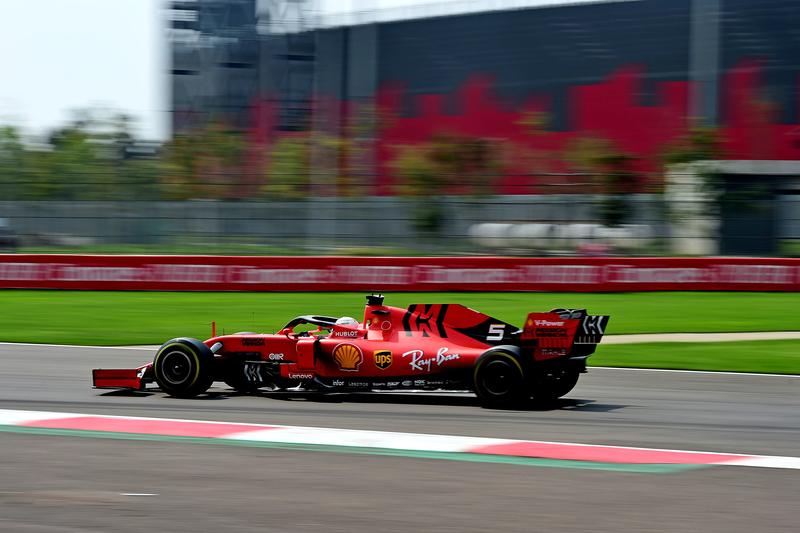 Sebastian Vettel - Scuderia Ferrari in the 2019 Formula 1 Mexican Grand Prix - Autodromo Hermanos Rodriguez - Race