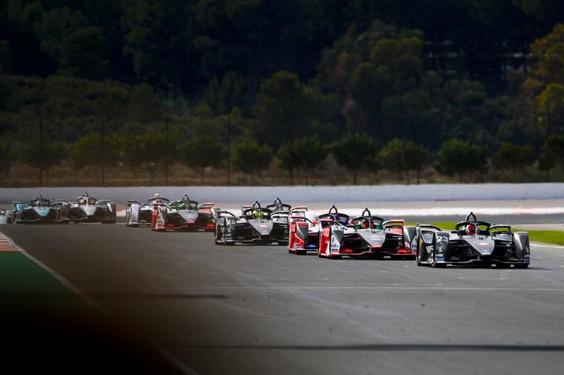 2019-20 Formula E grid at pre-season testing in Valencia