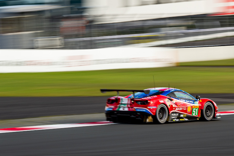 AF Corse #51 racing on track, WEC 2019
