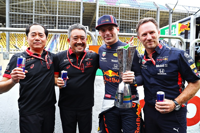 "Red Bull's Christian Horner: ""It's been a really positive weekend for both Red Bull teams and Honda"""