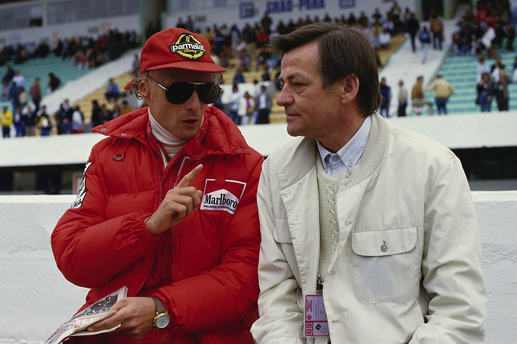 Nikki Lauda and Hans Mezger