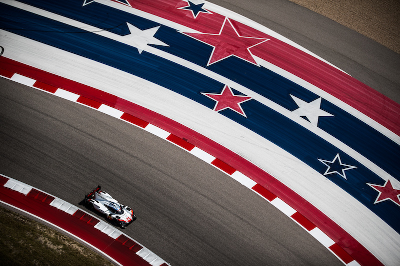 #2 Porsche LMP2 Team on track at Circuit of the Americas, 2017