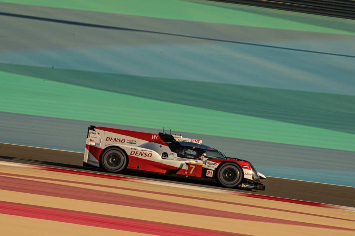 #7 Toyota Gazoo Racing on track during the 8 Hours of Bahrain, 2019