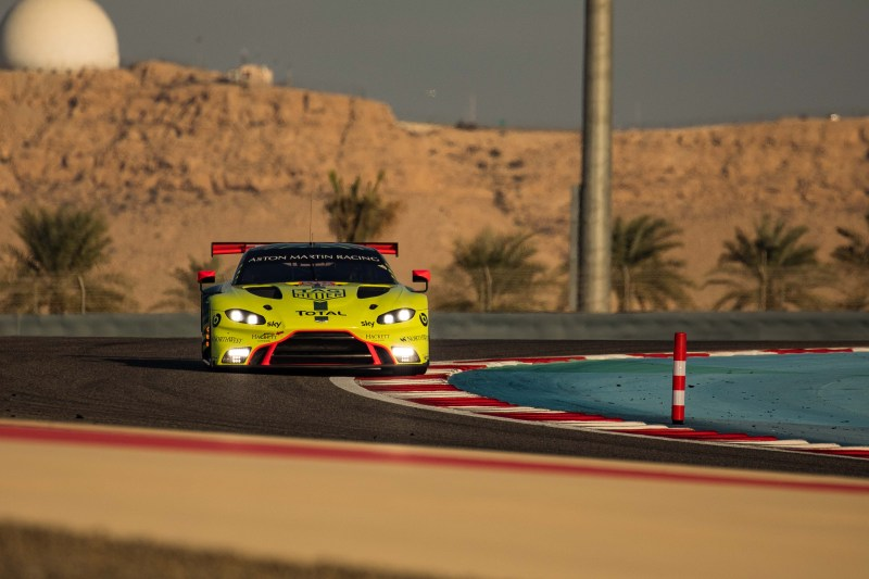 Aston Martin Racing on track during the 8 Hours of Bahrain, 2019
