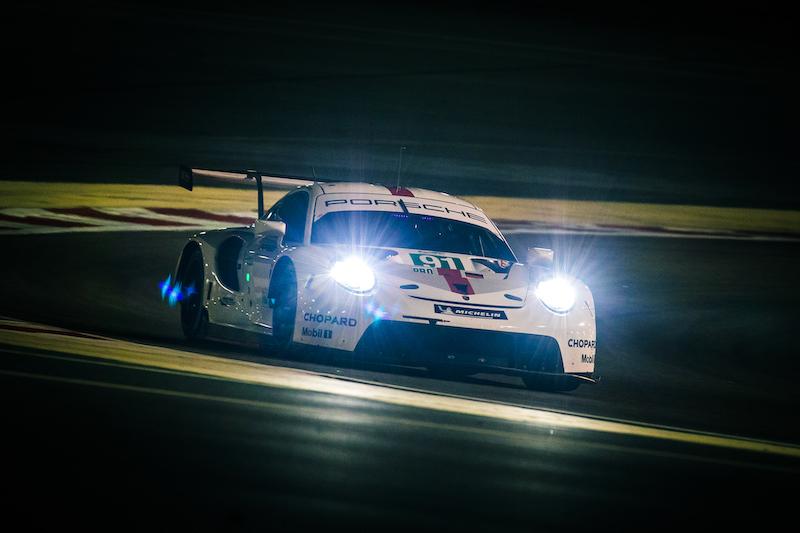 #91 Porsche GT Team on track at Bahrain, 2019