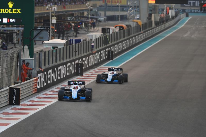 Robert Kubica & George Russell - ROKiT Williams Racing in the 2019 Formula 1 Abu Dhabi Grand Prix - Yas Marina Circuit - Race