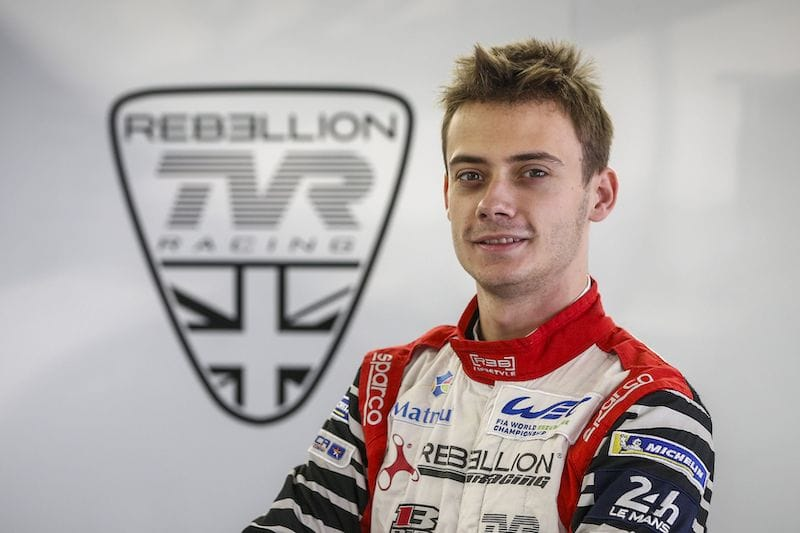 Louis Delétraz debuting for Rebellion Racing in FIA World Endurance Championship