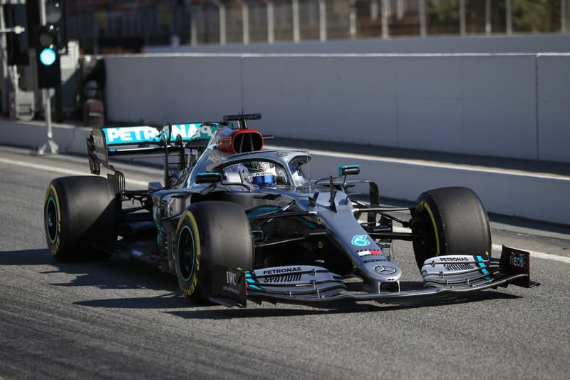 Bottas just ahead of Verstappen on the final day of testing - The Checkered Flag