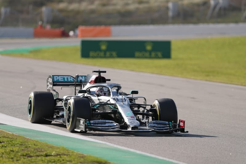 Both Mercedes drivers complete full race simulations on the second day of testing - The Checkered Flag