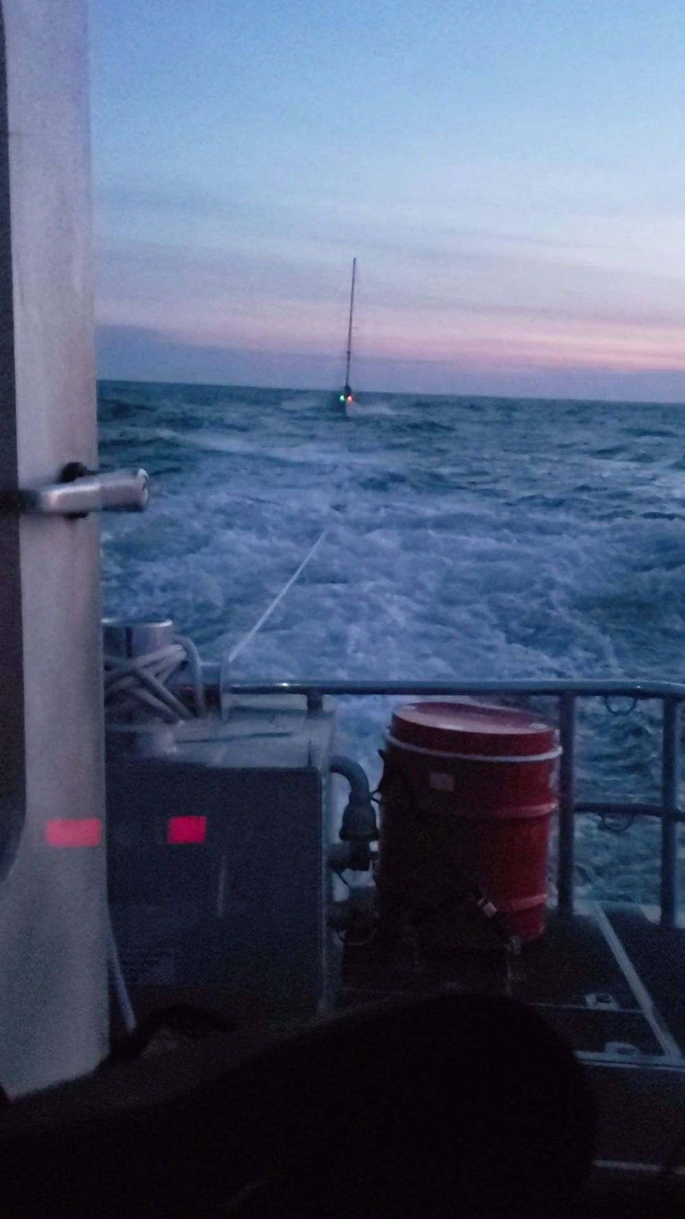 Coast Guard cleared shipping channel in Chesapeake of adrift sailboat before nightfall