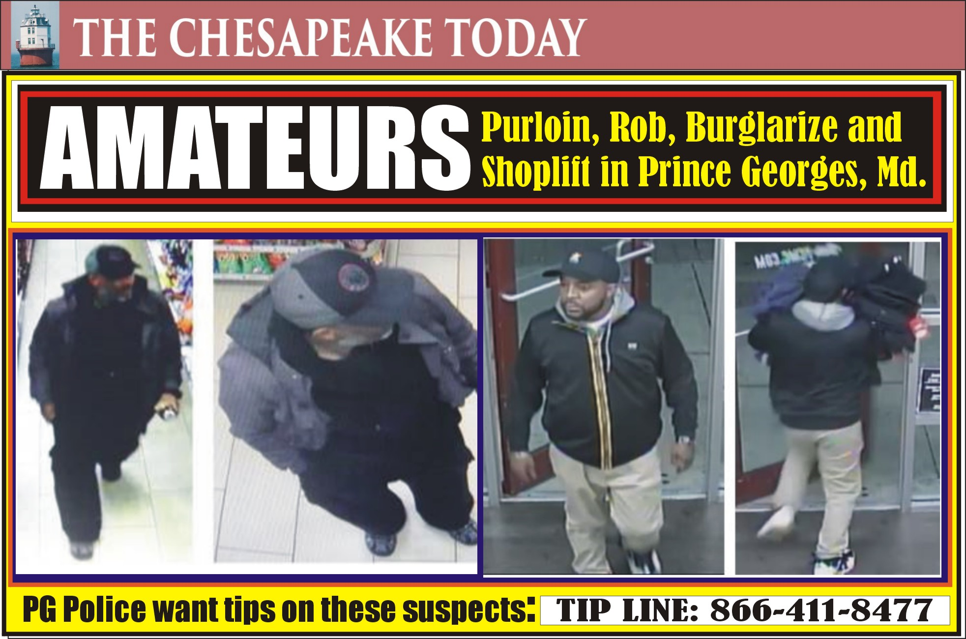 AMATEURS OF CRIME: The Wuhan Wahoos of PG County are wanted by Prince George's County Police – tips can win cash!