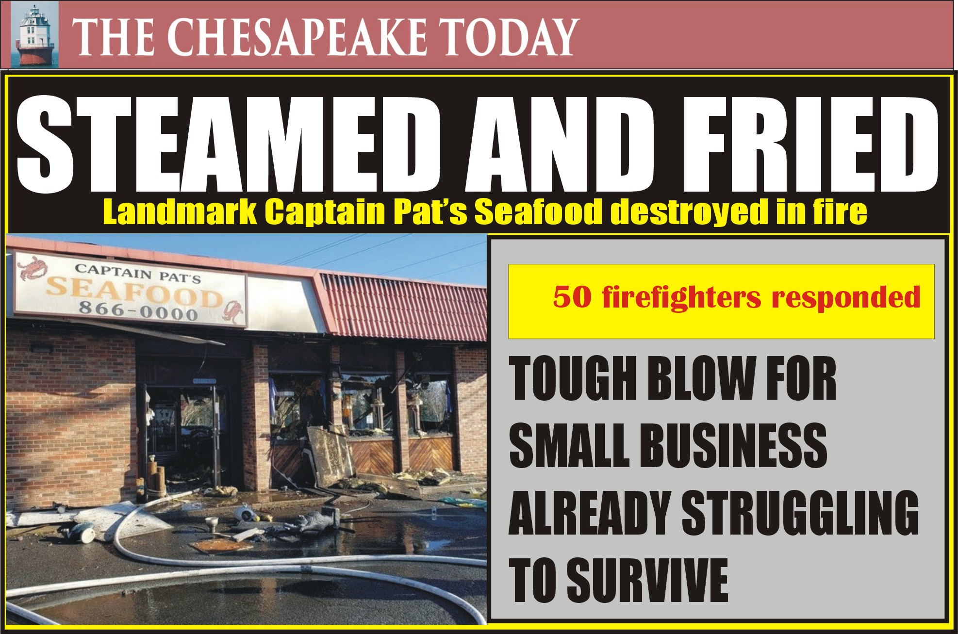 HOT STEAMED CRABS: Popular Seafood Carryout Total Loss Just as Crabbing Season Begins