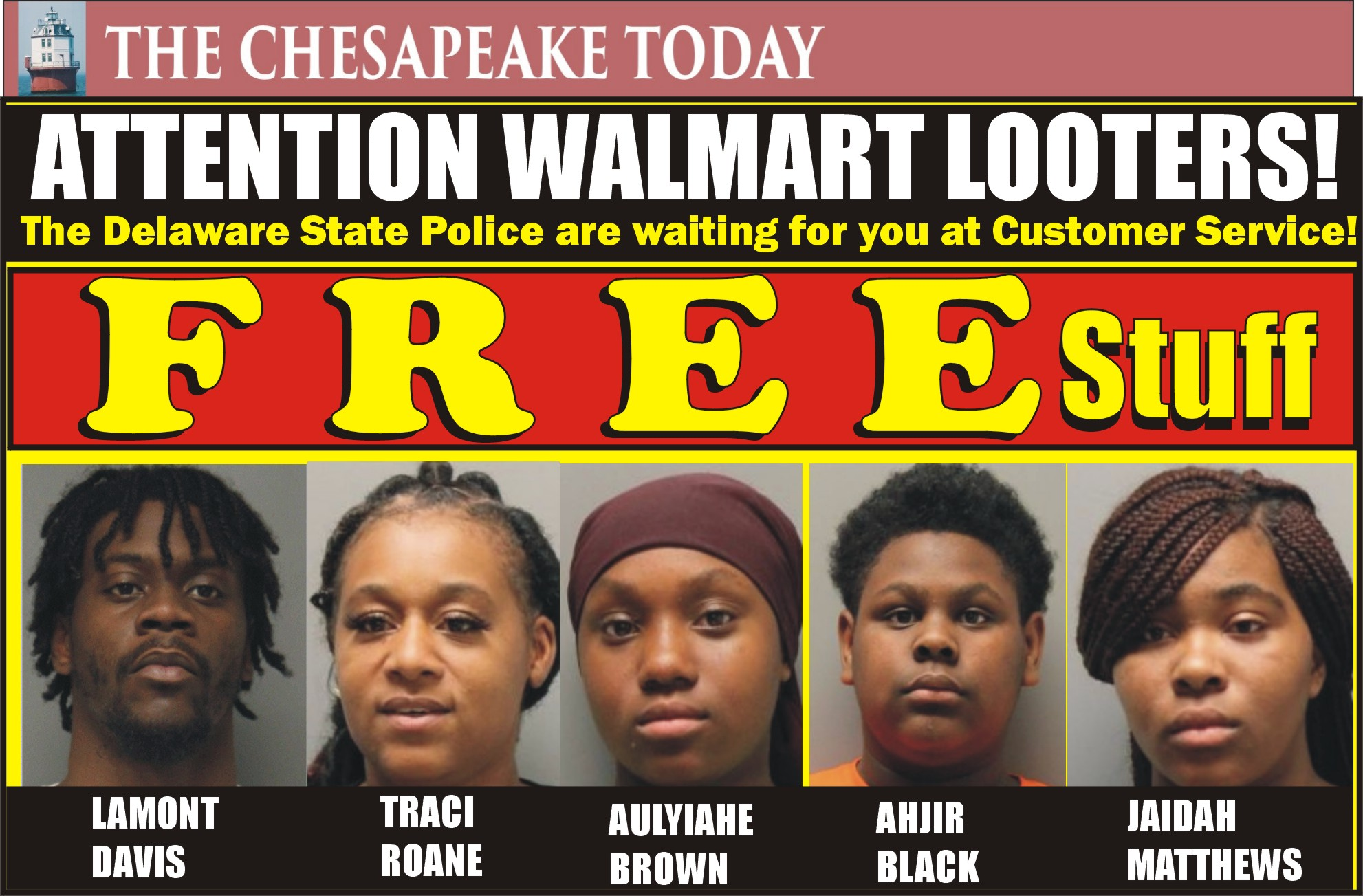 LOOTING IN DELAWARE: Gang caught in the act of looting Walmart