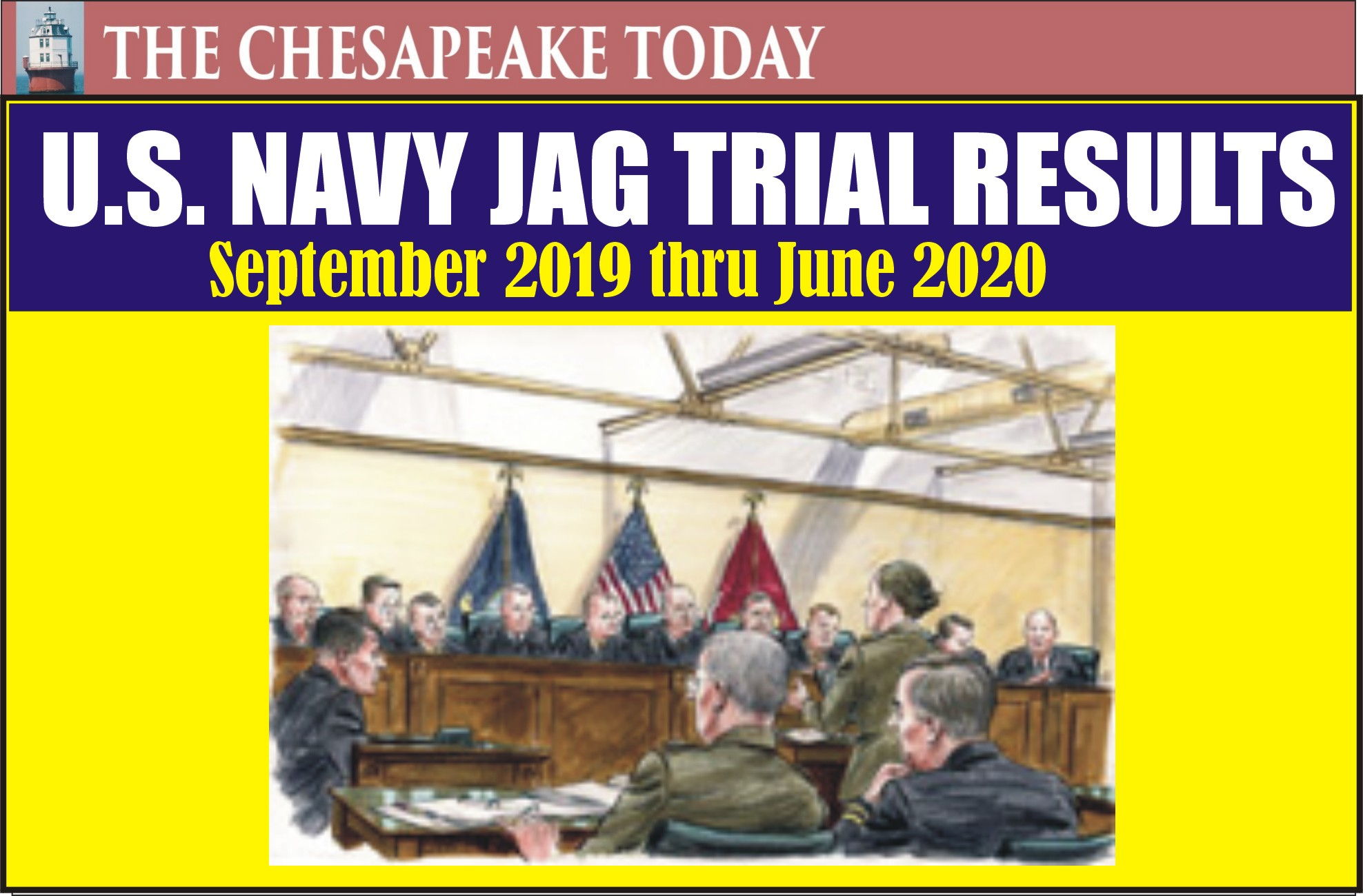 COURT NEWS: The following reports the results of Special and General Court-Martial convened within the United States Navy from Sept. 2019 to June 2020