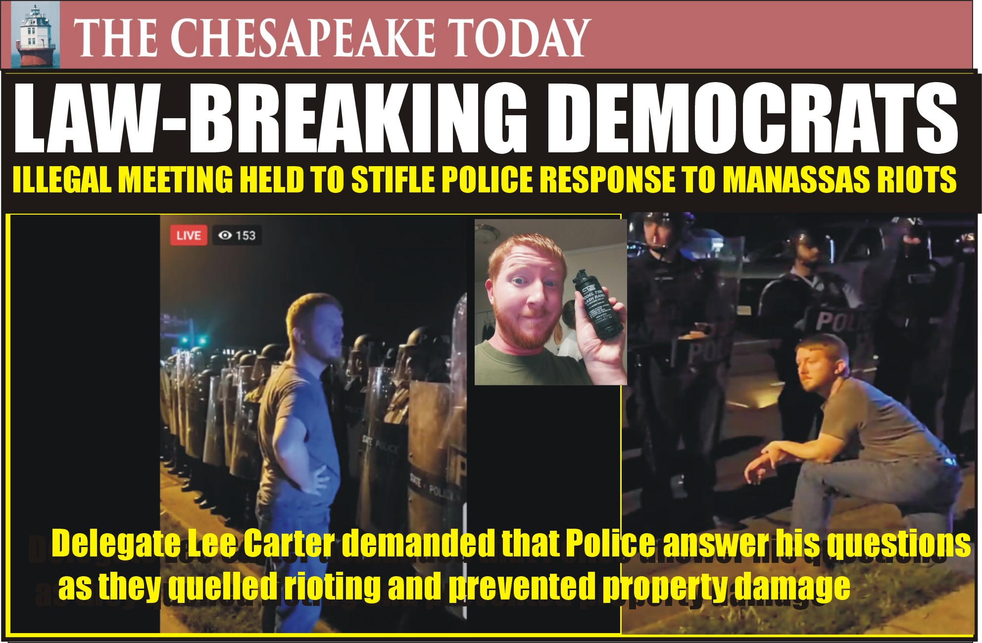 MANASSAS RIOT: Prince William County Democrat Supervisors held a secret meeting after May 30th riot; ordered police to stand down