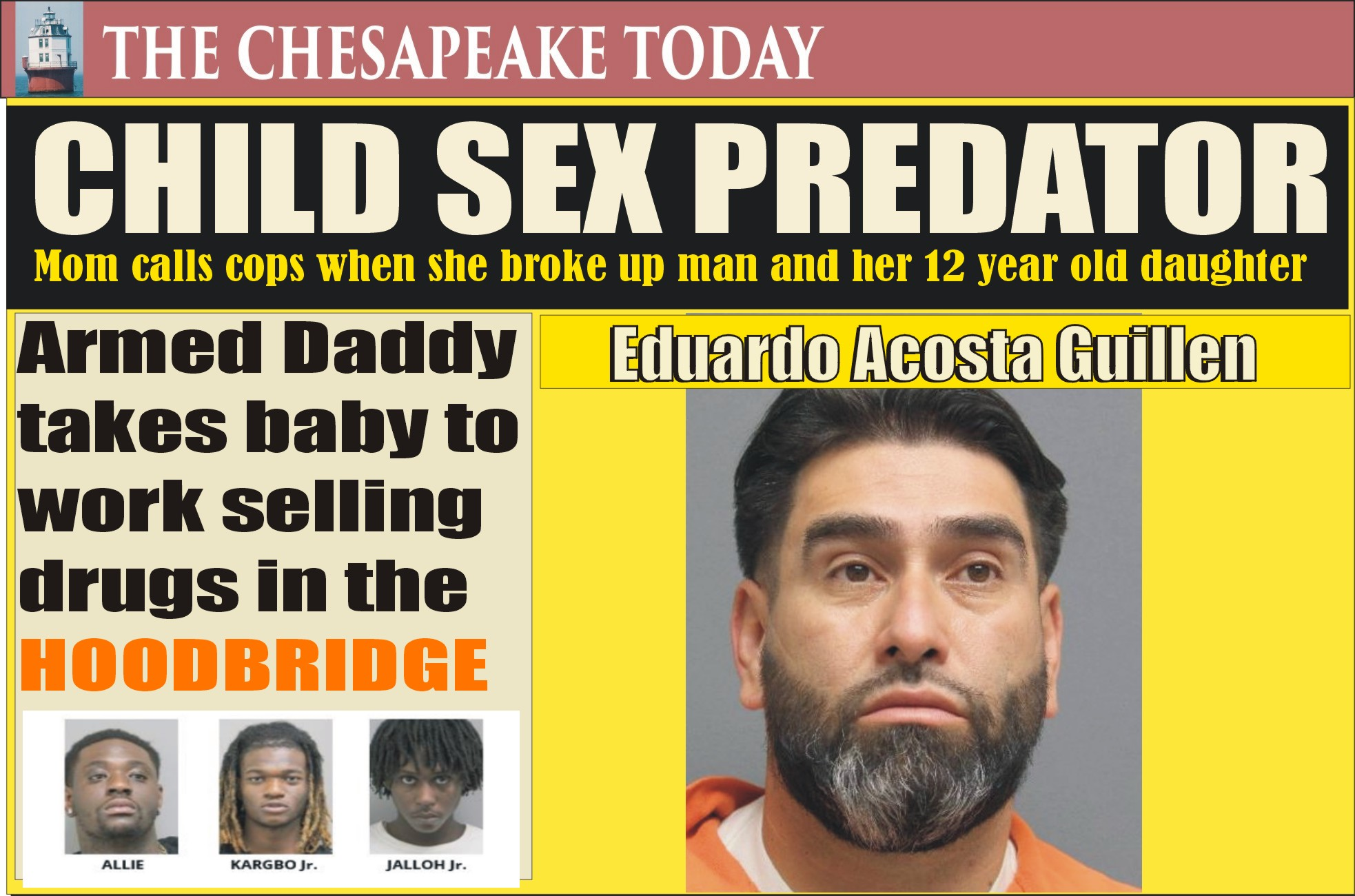 PRINCE WILLIAM POLICE NEWS BEAT: Eduardo Acosta Guillen charged with child sex assault and sodomy