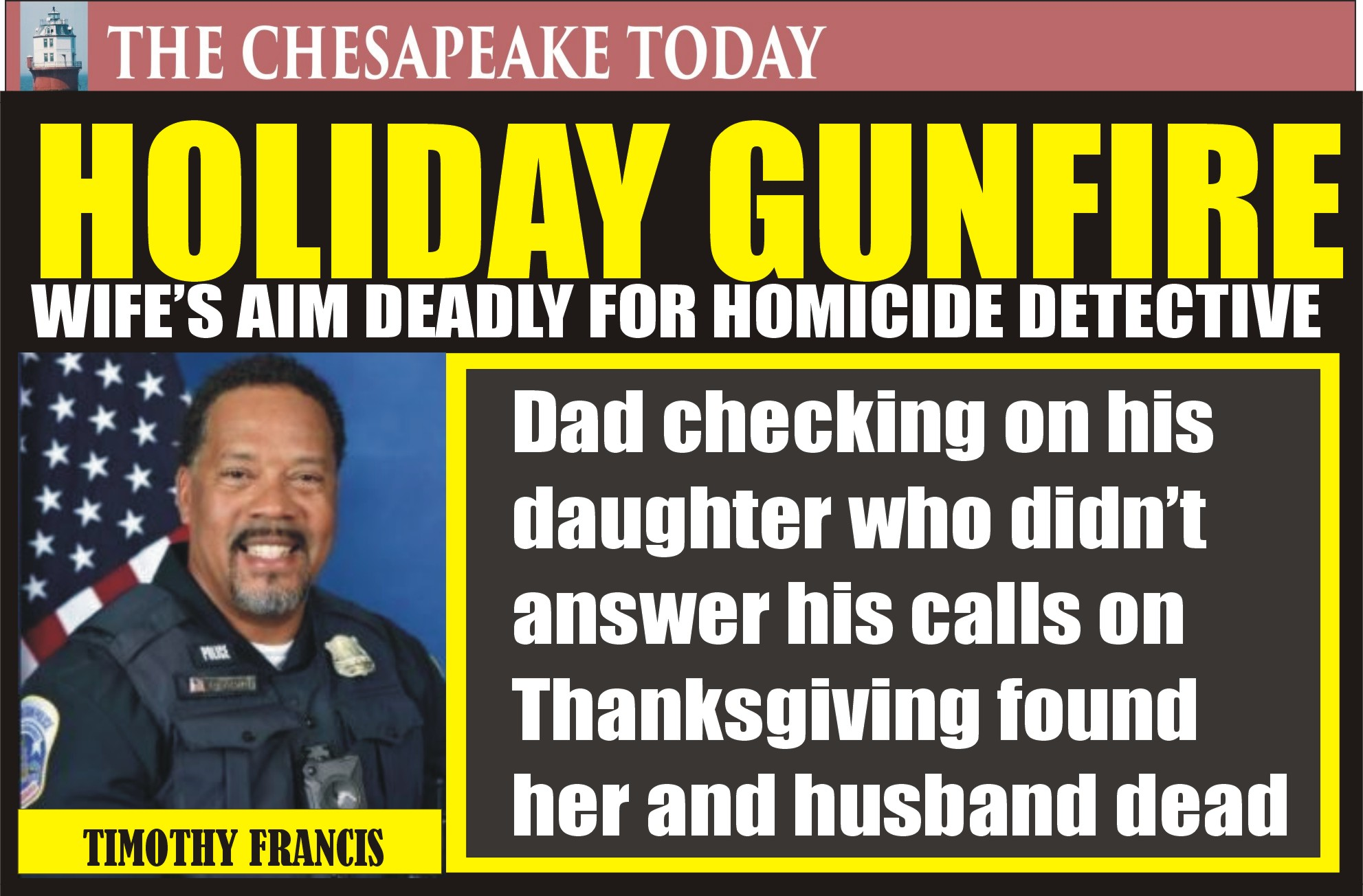 MURDER USA: Wife murdered DC Detective Timothy Francis then Christina Lynn Francis took her own life