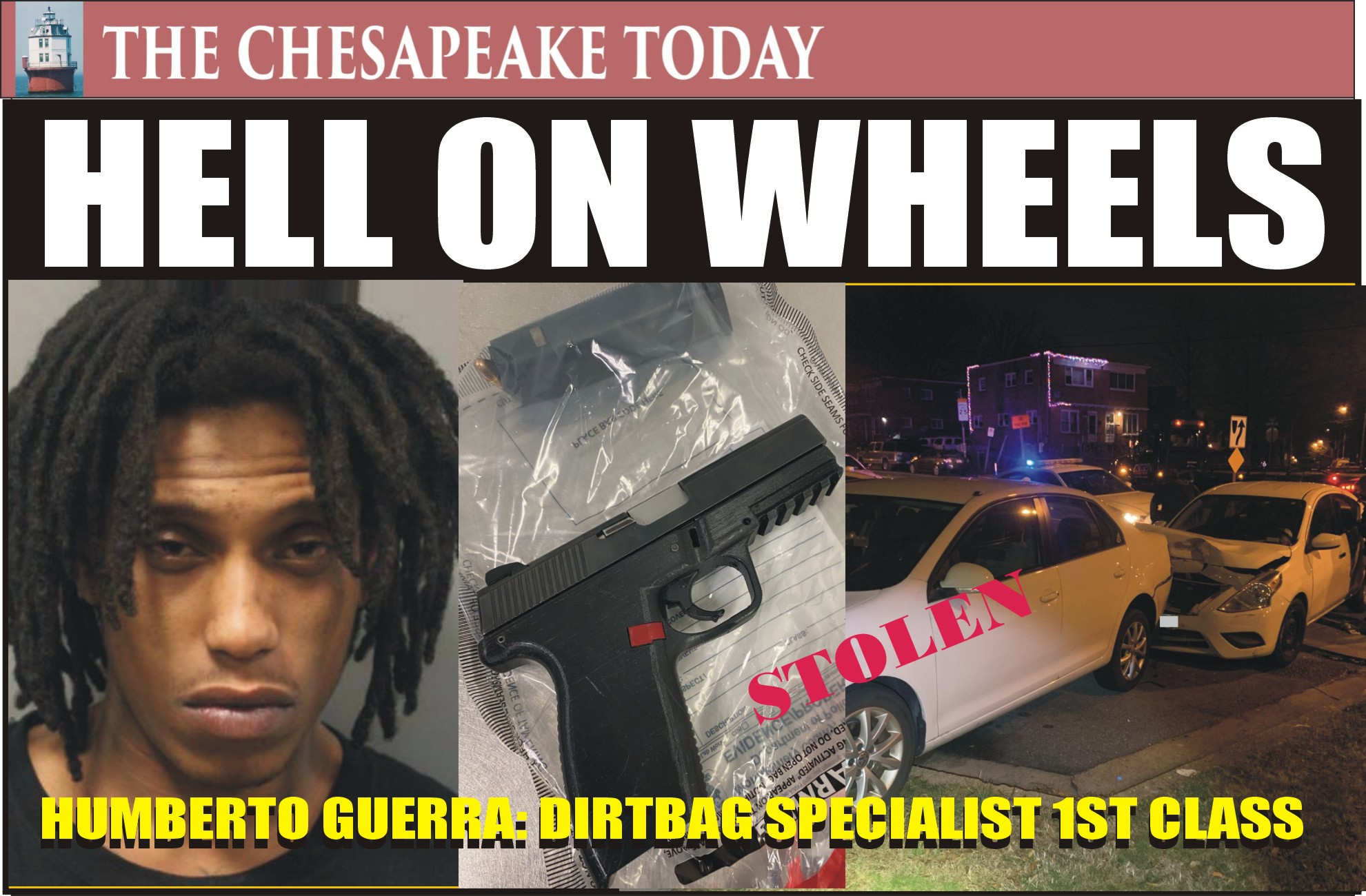 DWI HIT PARADE: Holiday Alcohol Task Force Officers Arrest Humberto Guerra for Hit-and-Run and DUI; Packing Heat