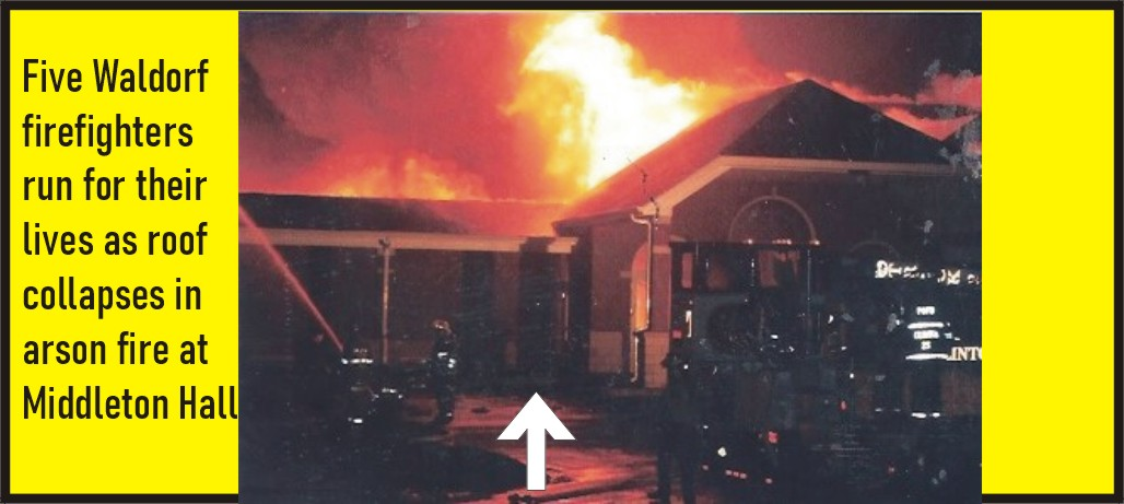 UNSOLVED ARSON: Exclusive photos of the 1998 arson of Middleton Hall near Waldorf