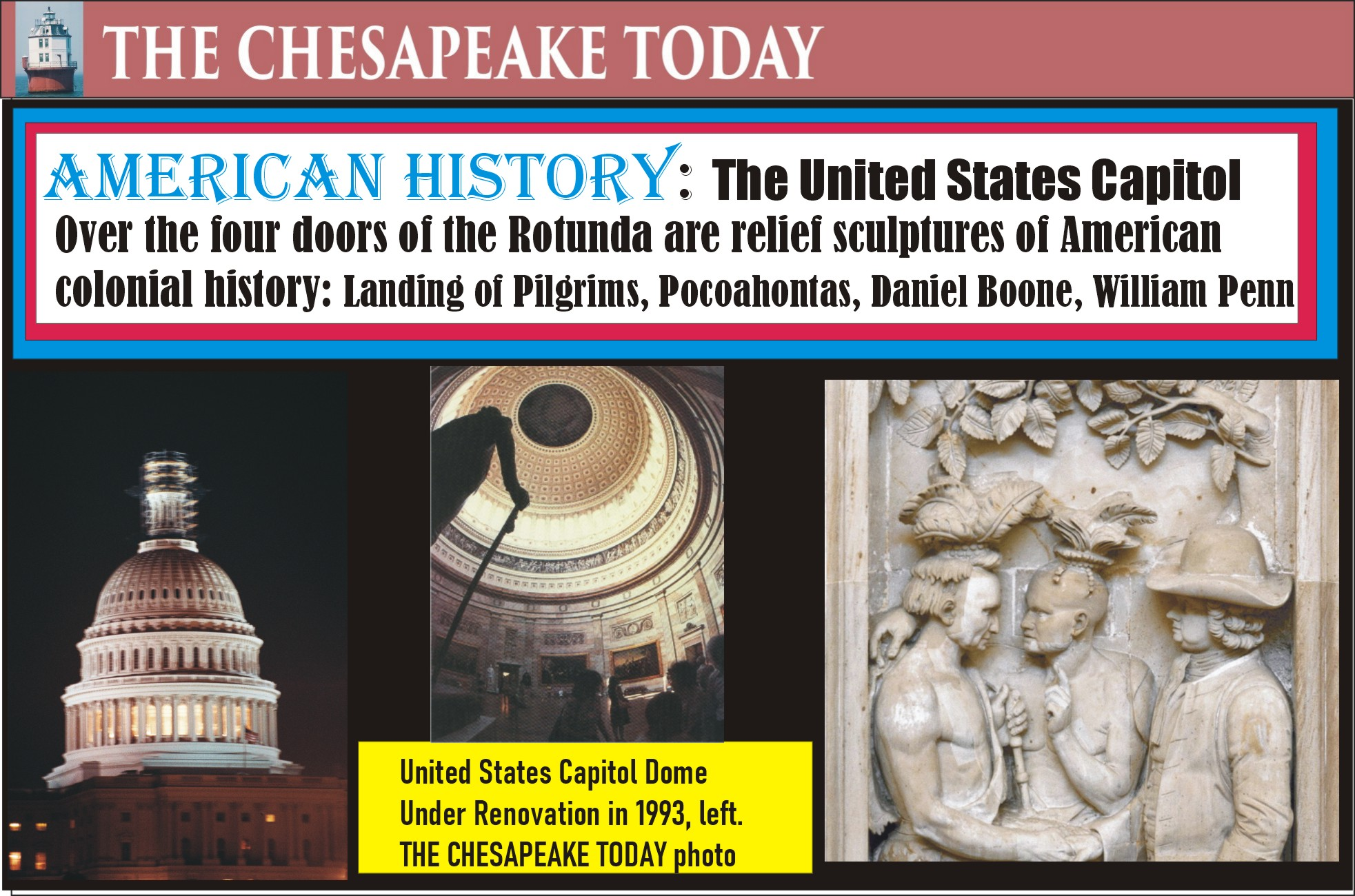 AMERICAN HISTORY: Sculptures that adorn the Rotunda of the United States Capitol