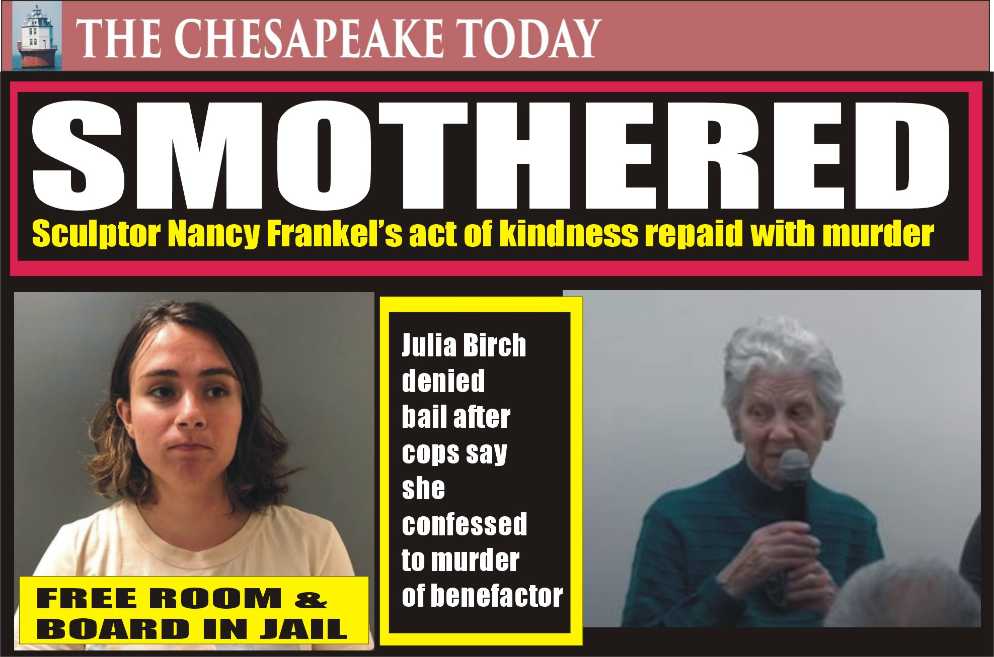 MURDER USA: Julia Birch suffocated elderly sculptor who took her into her home; police say she has confessed twice