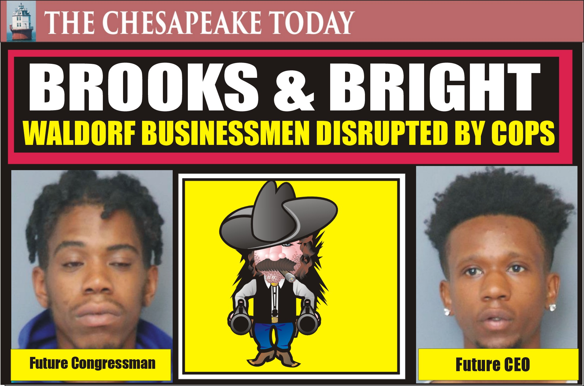CHARLES SHERIFF NEWS BEAT: Alleged spitting drug dealer Kaleb Brooks threatened to shoot dog; Bright pal showed up while cops were executing search warrant was packing heat