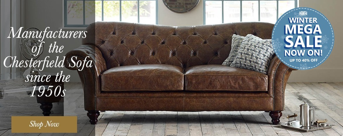 drummond grand leather sofa round chair set the chesterfield co™: sofas ...