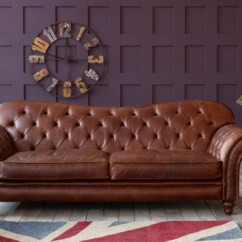 Vintage Leather Sofa Company Convertible Beds New York Arundel Chesterfield Brown