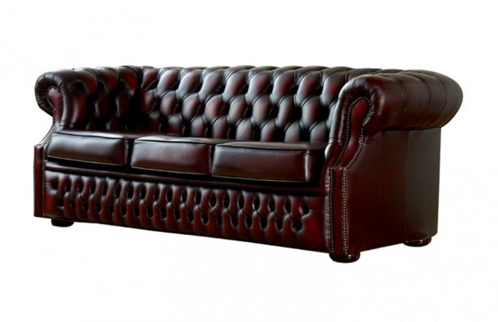 drummond grand leather sofa for apartment living burlington thomas ...