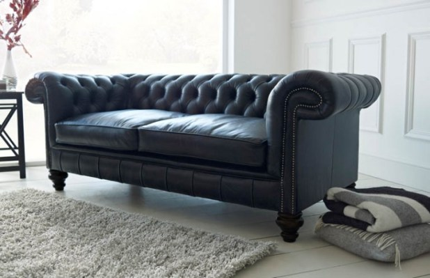 Black Leather Chesterfield Sofa Uk Brokeasshome com