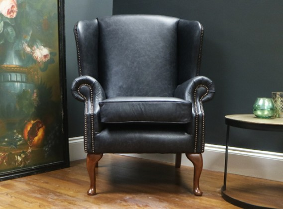 leather wingback chairs garden swing egg chair high back scroll queen anne more douglas wing